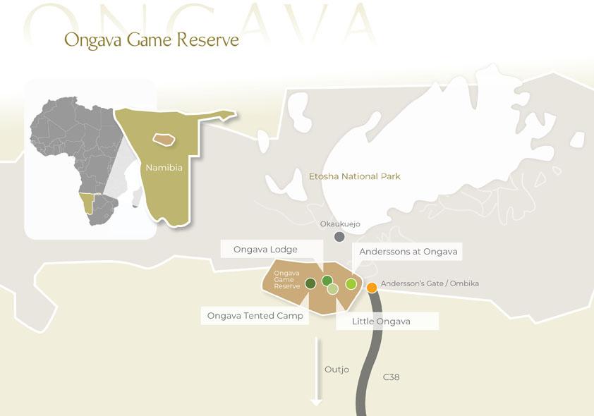 Karte Namibia Download.Directions Maps Ongava Home Of The Luxury Safari